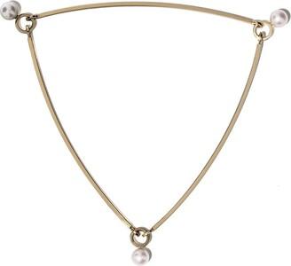 Sophie Bille Brahe 14kt yellow gold La Pyramide pearl bracelet