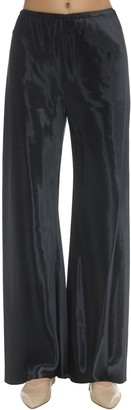 The Row Shiny Viscose Satin Gala Pants