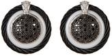 Alor 18K White Gold & Diamond Ceramic Stud Earrings - 0.72 ctw