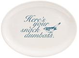 Heres Your Snack Ceramic Platter