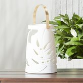 CB2 Monstera Large White Leaf Lantern