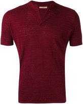 Nuur split neck short sleeve sweater - men - Cotton/Linen/Flax - 48