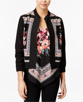 Amy Byer Juniors' Floral-Print Bomber Jacket