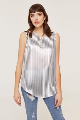 Ardene Basic Striped Sleeveless Blouse