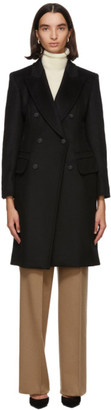 Max Mara Black Wool Patrik Long Coat