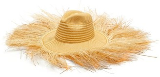 Greenpacha Bali Frayed-edge Toquilla-straw Hat - Womens - Yellow