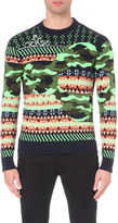 Diesel K-ruboris patterned knitted jumper