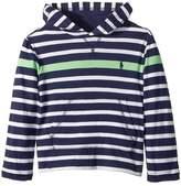 Polo Ralph Lauren Striped Cotton Hooded T-Shirt Boy's Clothing