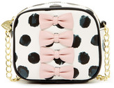 Betsey Johnson Petite-Chic Bows Faux Leather Camera Crossbody