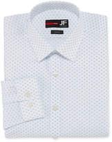 Jf J.Ferrar Easy-Care Stretch Long Sleeve Broadcloth Floral Dress Shirt - Slim