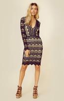 Nightcap Clothing sierra lace deep v dress