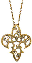 Daniela Swaebe Yellow Gold Fleur de lis Pendant Necklace