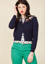 ModCloth A Touch of Terrific Cardigan in Navy in 16 (UK)