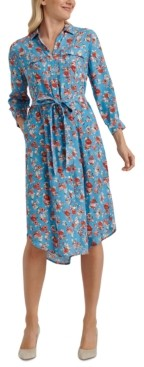 Lucky Brand Chelsea Floral-Print Utility Dress