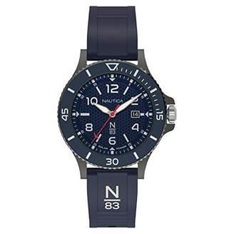 Nautica N83 Men's NAPCBS911 Cocoa Beach Silicone Strap Watch