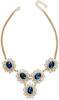 Charter Club Gold-Tone Blue Oval Crystal Statement Necklace, Only at Macy's