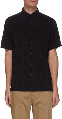 Theory 'Irving' Vertical Stripe Short Sleeve Shirt