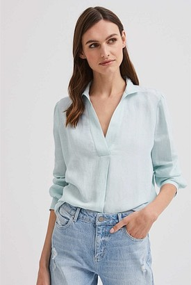 Witchery Linen Pull On Shirt