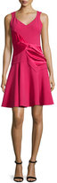 Prabal Gurung Sleeveless V-Neck Dress, Raspberry