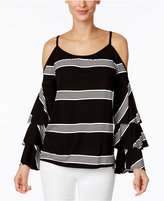 INC International Concepts Striped Cold-Shoulder Top, Only at Macy's