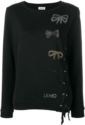 Liu Jo Bow Embellishments Sweater