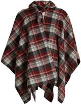Balenciaga Checked poncho