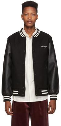 Saturdays NYC Black Welsh Varsity Bomber Jacket