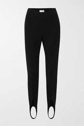 Saint Laurent Stretch-knit Stirrup Leggings - Black