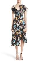 Jason Wu Women's Floral Print Asymmetrical Cotton Dress