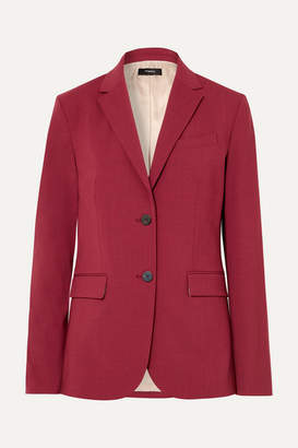 Theory Stretch-wool Blazer - Claret