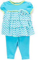 Buster Brown Blue Chevron Tunic & Pants - Infant