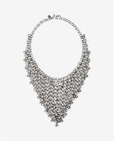 Express crystal net bib necklace