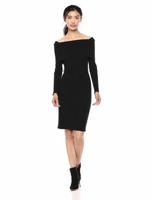 Lark & Ro Amazon Brand Women's Long Sleeve Bateaux Neck Sweater Dress