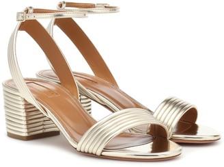 Aquazzura Sundance 50 metallic leather sandals