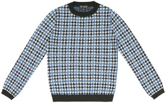 Loro Piana Kids Funny Collage cashmere-blend sweater