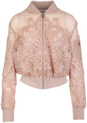 RED Valentino Romantic Bomber In Point Desprit Tulle