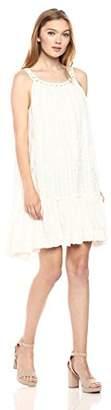 Max Studio Women's Shadow Dobby Sleeveless Dress, Off