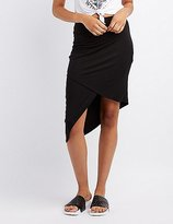 Charlotte Russe Ruched Asymmetrical Wrap Skirt