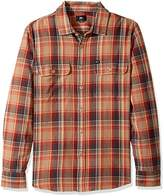 Obey Men's Marvyn Regular Fit Woven Long Sleeve