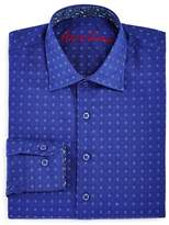 Robert Graham Boys' Diamond Print Dress Shirt - Big Kid