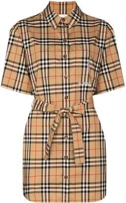 Burberry Rachel Vintage check shirt dress