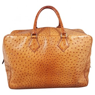 Hermes Gold Ostrich Bags