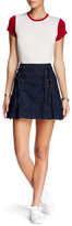 Free People Lace-Up Denim Skirt