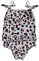The BRAND Grey Leopard Bow Swim Suit