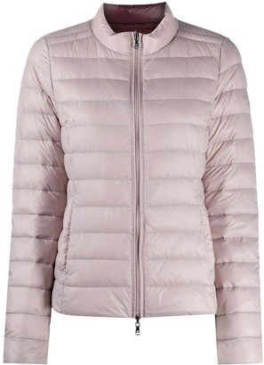 Patrizia Pepe Zip-Up Logo Puffer Jacket