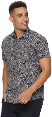 Marc Anthony Men's Patterned Slim-Fit Button-Down Shirt