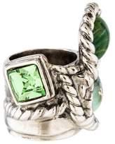 Saint Laurent Resin & Crystal Cocktail Ring