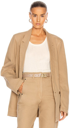 Lemaire Double Breasted Jacket in Beige | FWRD
