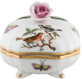 Herend Rothschild Bird Bonbon with Rose