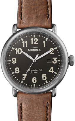 Shinola Men's 47mm Runwell Watch, Tan